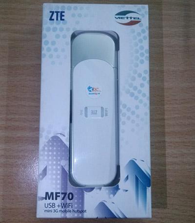 USB 3G Viettel phát WiFi MF70 21.6Mbps vào mạng nhanh