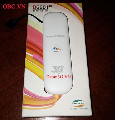 Dcom 3G Viettel D6601 21.6Mbps vào mạng nhanh
