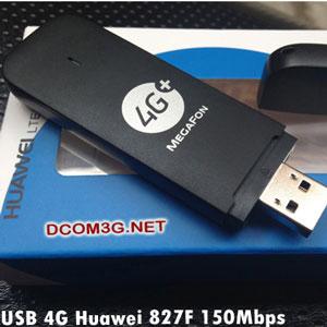 USB 4G Huawei 827F tốc độ 150Mbps vào mạng cực nhanh