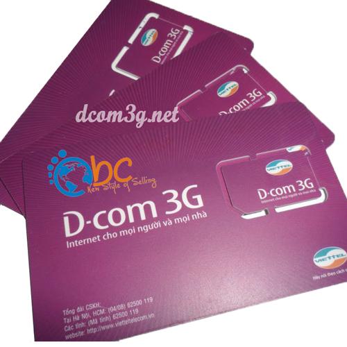 Sim 3G Viettel trọn gói vào mạng miễn phí 1 năm
