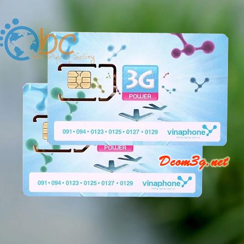 Sim 3G Vinaphone giá rẻ DATA khủng 102Gb