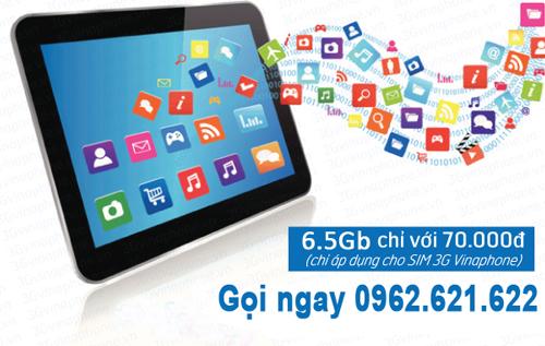 Sim 3G Vinaphone 75Gb dung lượng cao khuyến mãi 12 tháng