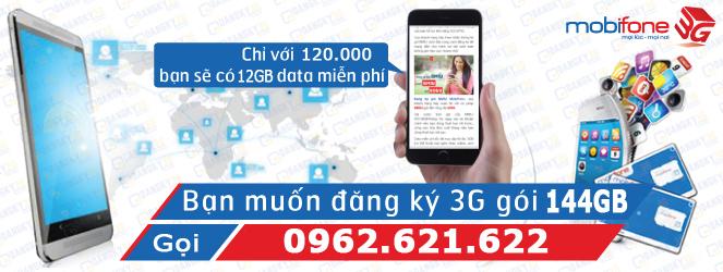 Sim 3G Mobifone Fast Connect 144Gb dung lượng lớn