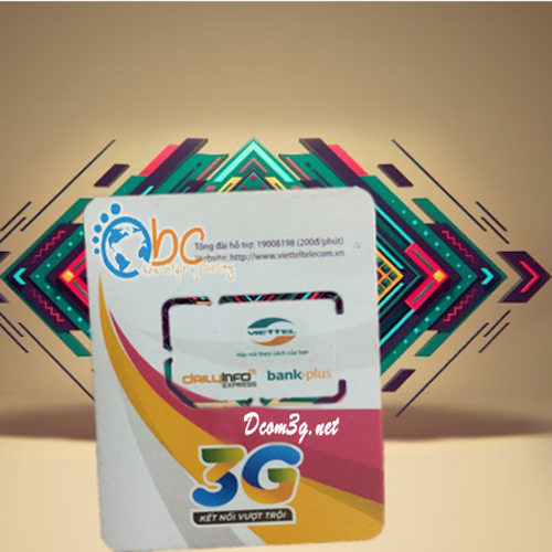 Sim 3G Viettel 240Gb dung lượng khủng không giới hạn DATA