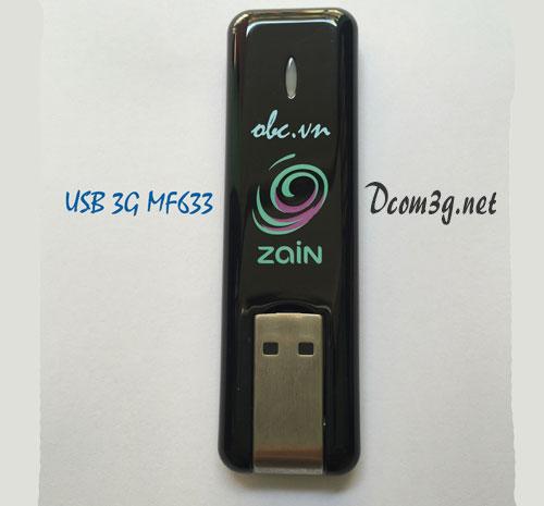 USB 3G ZTE MF633 hàng chuẩn chính hãng tốc độ 7.2Mbps