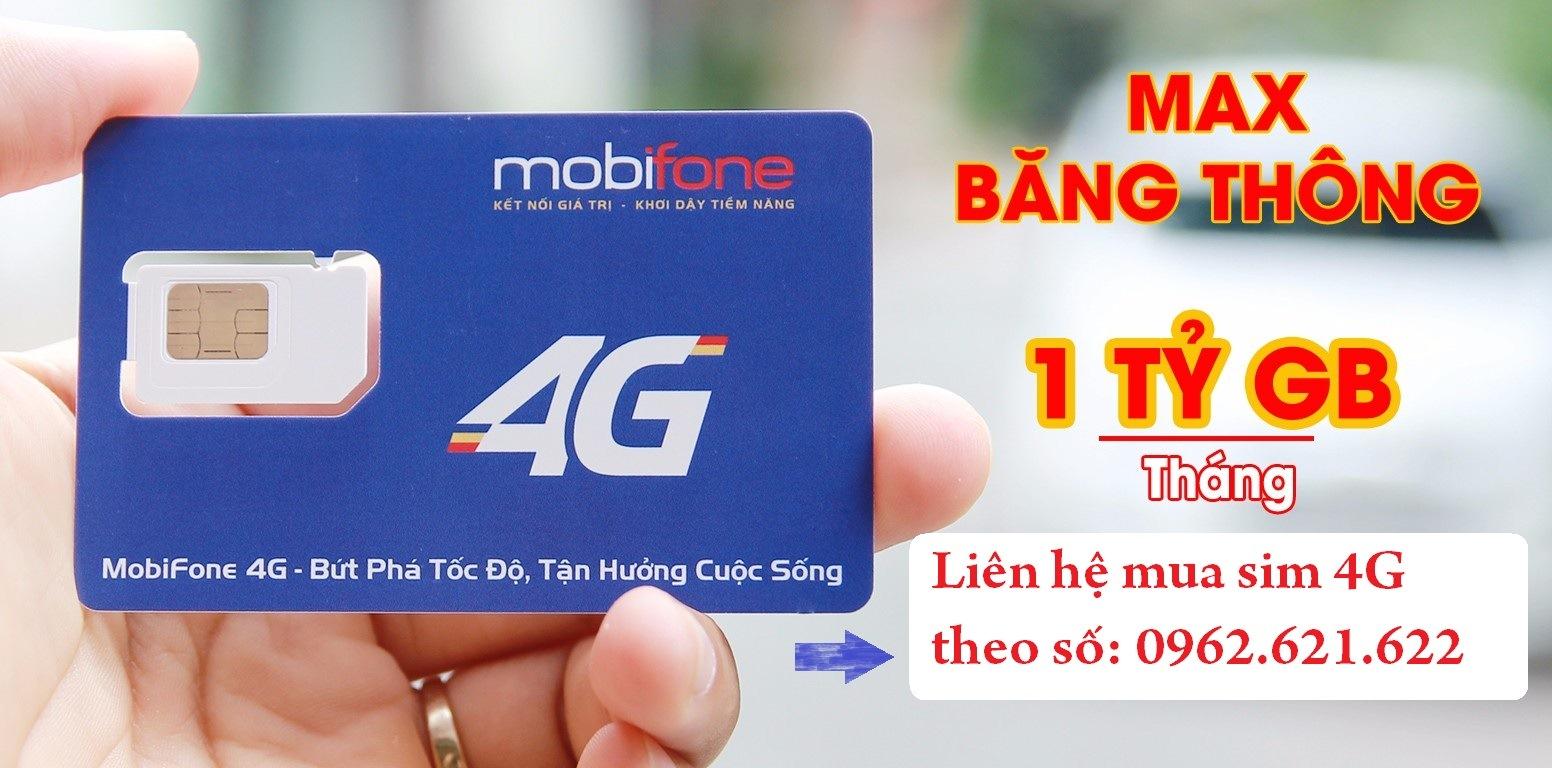 Sim 3G Mobifone tỷ GB không giới hạn dung lượng tốc độ cao