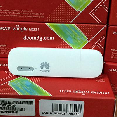 USB 3G phát wifi Huawei E8231 vào mạng cực nhanh