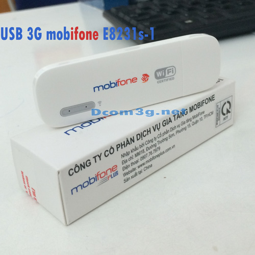 USB 3G Mobifone E8231s-1 phát wifi tốc độ cao giá rẻ